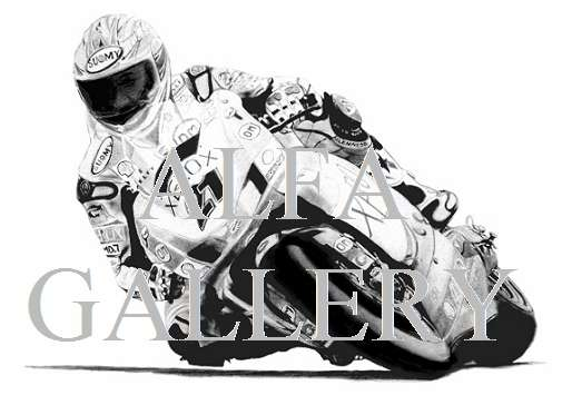 Troy Bayliss - Triple World Superbike Champion aboard the Ducati f07_999r - Pencil drawing